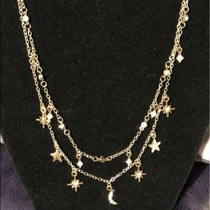 Multi strand morning star necklace